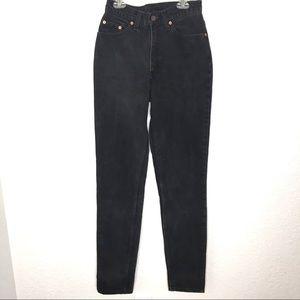 VINTAGE Levis 512 High Rise Mom Jeans 7 Long